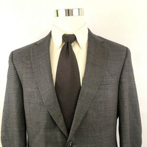 Hart Schaffner Marx Mens Two Button Jacket Sz 40L